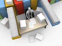 不尽的时候办公室文书工作 免版税库存图片