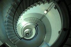 不尽的灯塔螺旋形楼梯 免版税库存图片