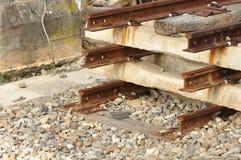 不尽的铁路 库存照片
