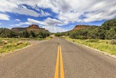 不尽的Boynton通行证路在Sedona,亚利桑那,美国 库存图片