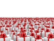 不尽的giftboxes飞机 免版税图库摄影