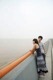 不快乐夫妇的恋人 免版税图库摄影