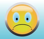 不快乐按钮的微笑 库存照片
