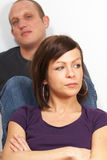 不快乐的夫妇 库存图片