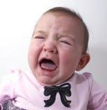 不快乐的女婴 免版税库存图片
