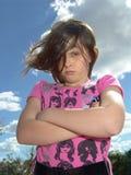 不快乐的女孩 库存图片