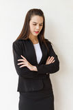 不快乐的女性商业主管 图库摄影