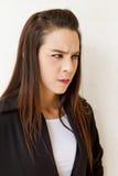 不快乐的女性商业主管Protrait  免版税库存照片
