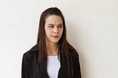 不快乐的女性商业主管Protrait  图库摄影