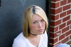 不快乐的妇女年轻人 图库摄影