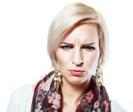 不快乐的妇女 免版税库存照片