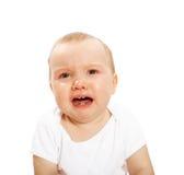 不快乐的婴孩 库存照片
