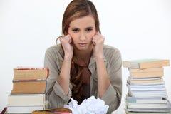 不快乐的学生 免版税库存图片