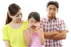 不快乐的家庭 免版税库存照片