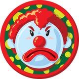 不快乐的小丑象 免版税库存图片