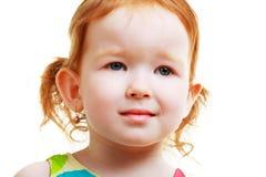 不快乐的小女孩 库存照片