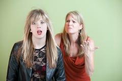 不快乐的母亲 免版税库存图片