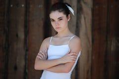 不快乐的青少年的女孩 图库摄影