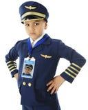 不快乐的年轻飞行员 库存图片