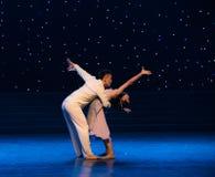 不愿给得到沿现代舞蹈方式  免版税库存照片