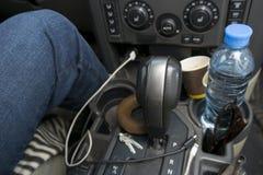 不整洁司机汽车 免版税库存图片