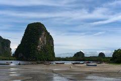 不是干净的Trang,泰国的海滩 库存照片