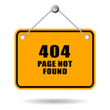 404不是被找到的页 库存图片