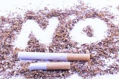 不是香烟 免版税库存照片