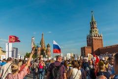 不朽的军团在莫斯科 免版税库存图片