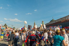 不朽的军团在莫斯科 库存照片