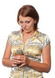 不满意的女孩 免版税图库摄影