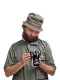 不满意的摄影师 库存图片