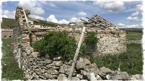 不用灰泥只用石块构造的大厦 库存图片