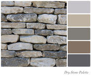 不用灰泥只用石块构造的调色板 免版税库存图片