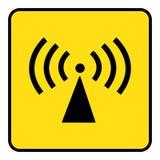不电离的辐射标志 向量例证