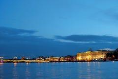 不眠夜在圣彼得堡 免版税库存照片