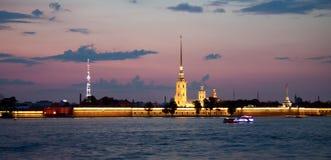 不眠夜,圣彼德堡 库存照片