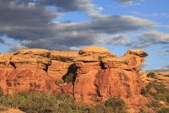 不祥之物在峡谷地国家公园 免版税库存照片