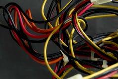 不稳定的电源线 库存图片