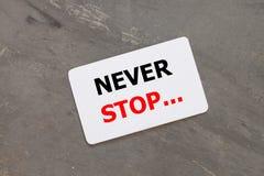 不要停止激动人心的行情设计 免版税库存图片