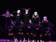不要听谣言这偏僻的舞蹈家现代舞蹈 免版税库存照片