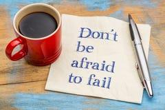 不要害怕出故障提示或忠告 免版税图库摄影