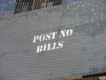 不要张贴票据标志 库存图片
