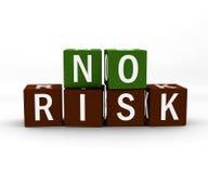 不要求风险的立方 免版税图库摄影