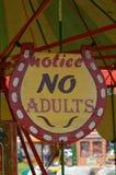 不要注意成人标志 免版税库存照片