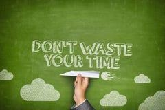 不要浪费您的时间概念 免版税图库摄影
