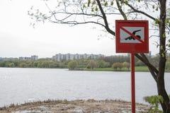 不要游泳 免版税库存图片