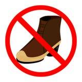 不要签署鞋子 库存图片