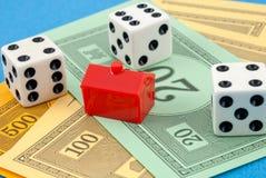 不要赌博您的房子 免版税库存照片