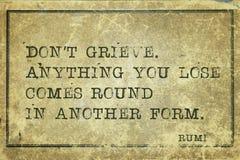 不要追悼Rumi 免版税库存照片